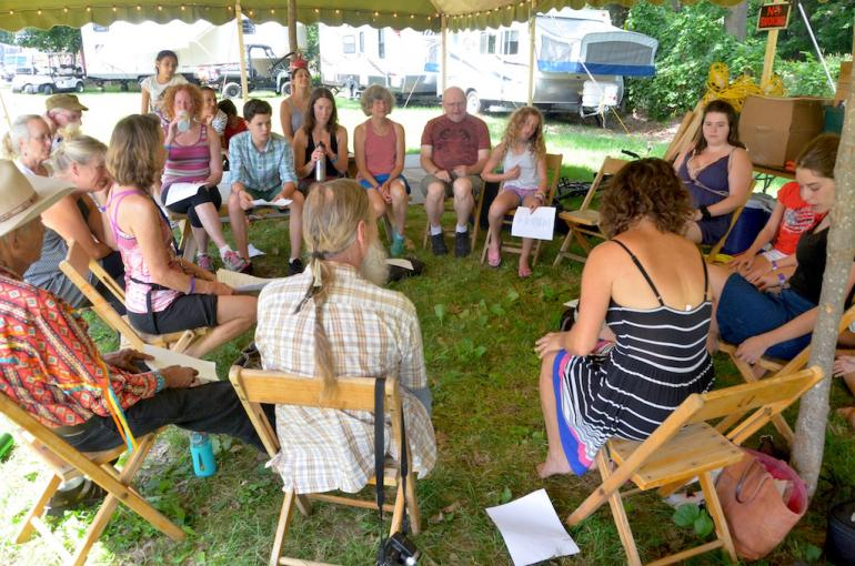 Singing Workshop, Culture Camp, Finger Lakes GrassRoots Festival 2017