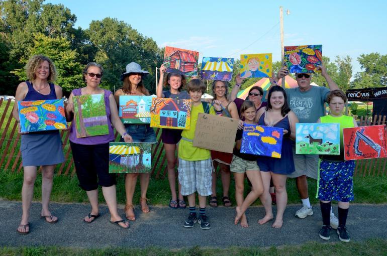 Painters Exhibit, Culture Camp, Finger Lakes GrassRoots Festival 2017