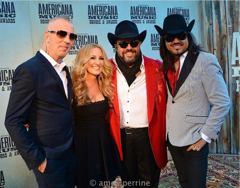 Lee Ann Womack and The Mavericks,  AMA Awards Red Carpet, The Ryman, September 16, 2015