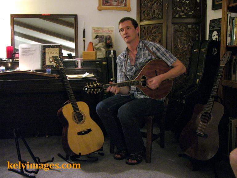 John Doyle at a house concert in Durham, North Carolina