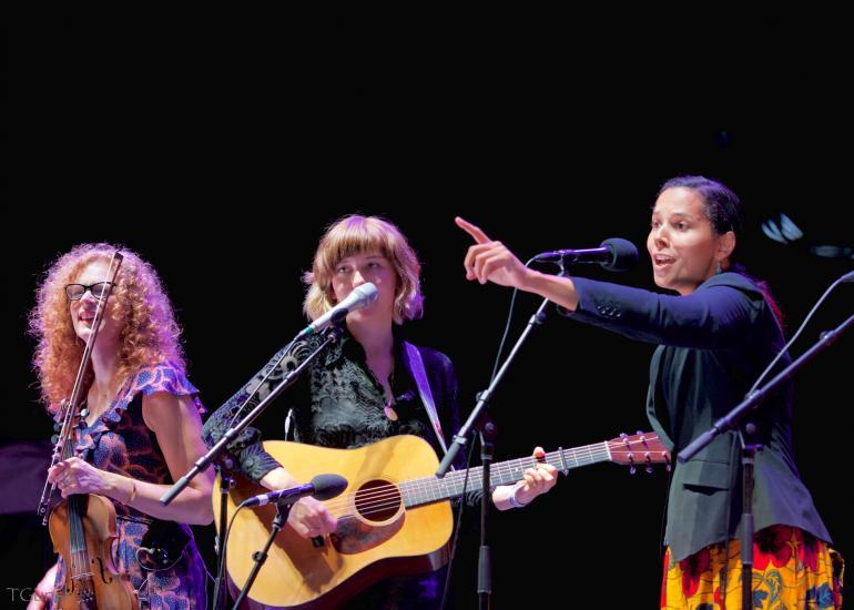 Becky Buller, Molly Tuttle and Rhiannon Giddens