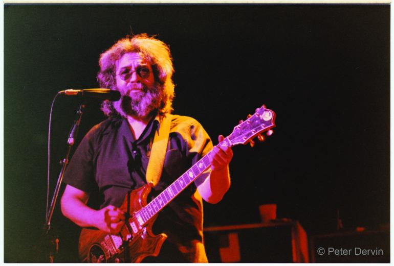 Jerry Garcia with the Grateful Dead at West High Auditorium in Anchorage, Alaska