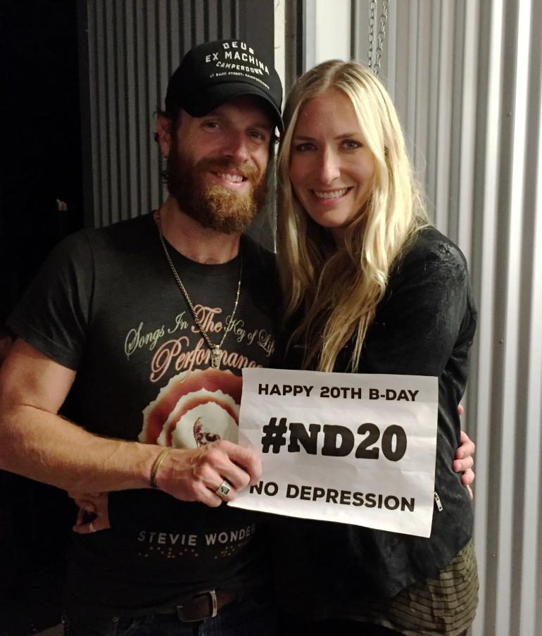 "Holly Williams and Chris Coleman (Kings of Leon) say ""Happy Birthday, ND!"""