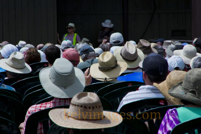 Hats aplenty at the Watson Stage on Sunday morning with the Kruger Brothers.