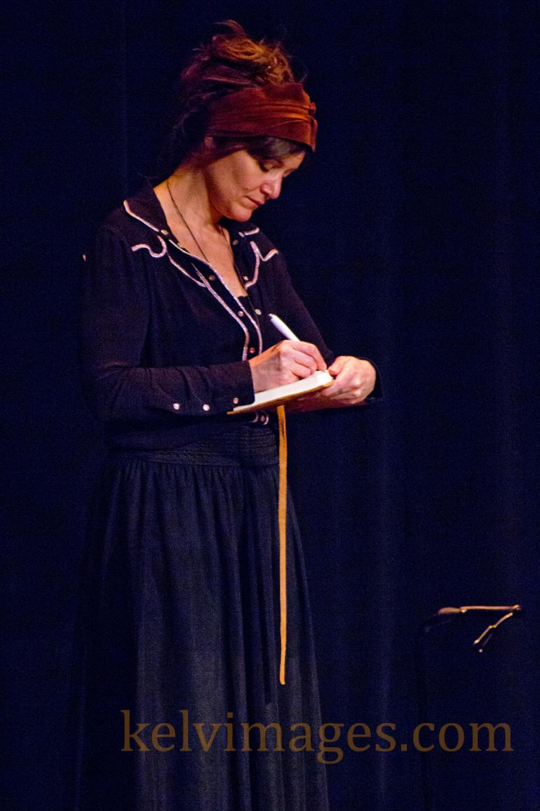 "Louise Holden from the Dublin based band ""I Draw Slow"" onstage at the Walker Center."