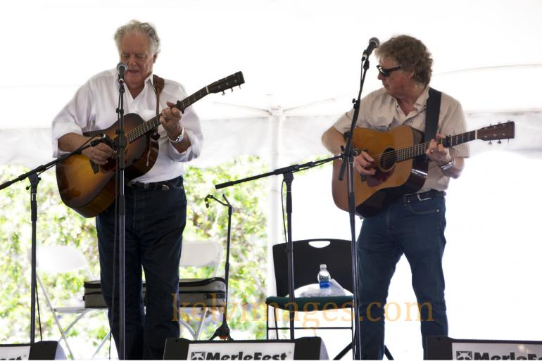 Peter Rowan and Jack Lawrence were amazing in the Traditional Tent at Merlefest.
