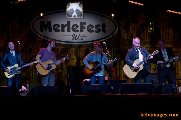 John Prine Band with a few of their special guests on the Watson Stage at Merlefest.