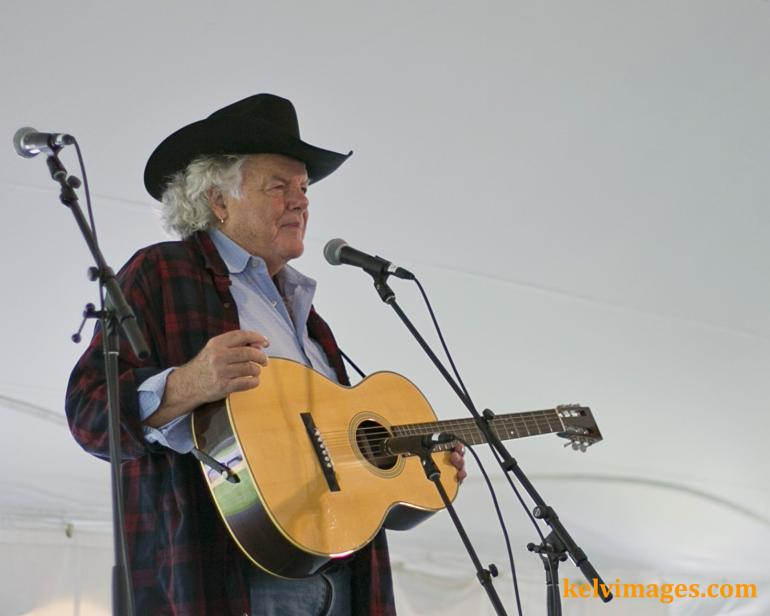 Peter Rowan's set went by in the blink of a eye which is a measure of how good it was.