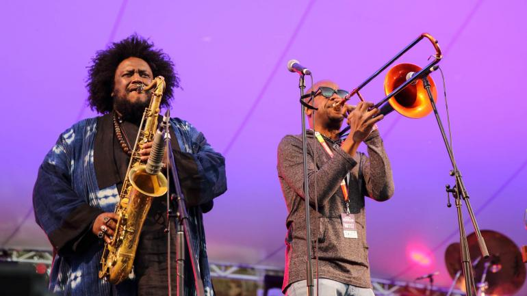 Kamasi Washington and Ryan Porter at WOMADelaide on March 11th, 2018
