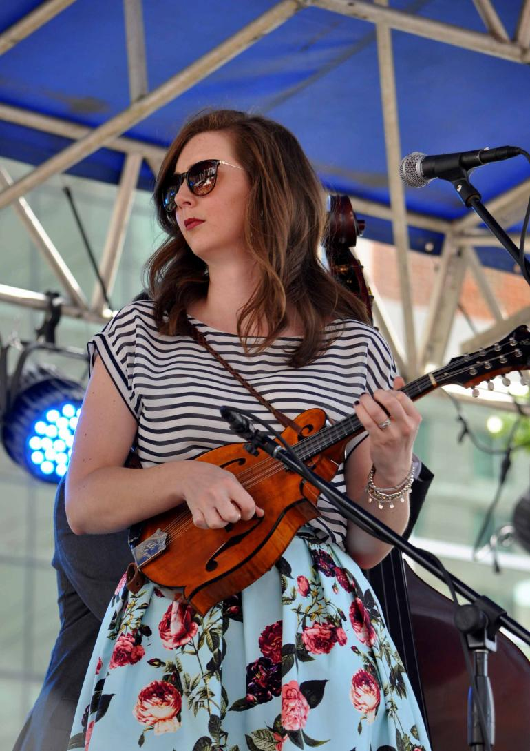 Kelsi Harrigill of Flatt Lonesome at IBMA Wide Open Bluegrass 2016