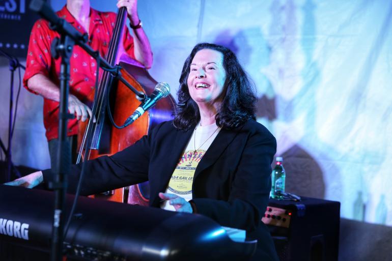 Linda Gail Lewis at AmericanaFest 2018
