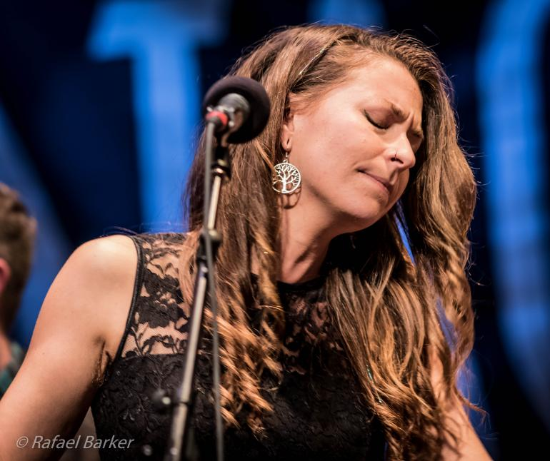 Lindsay Lou of Lindsay Lou & The Flatbellys performs on Mountain Stage in December 2015
