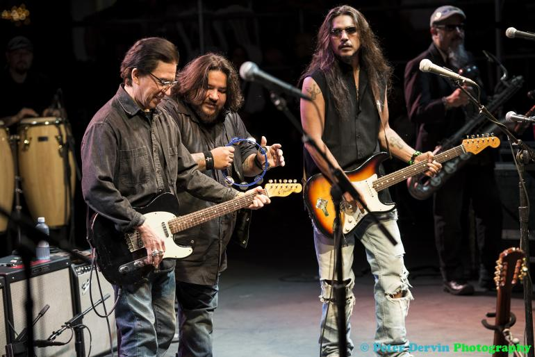 Louie Perez of Los Lobos with Ringo & Henry Garza of Los Lonely Boys