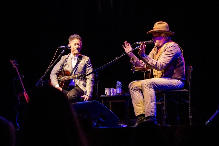 Lyle Lovett & Robert Earl Keen at the WYO Theater