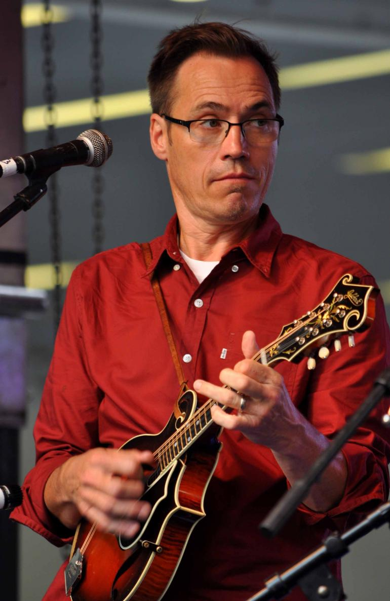 Mark Stoffel of Chris Jones & the Night Drivers at IBMA Wide Open Bluegrass 2016