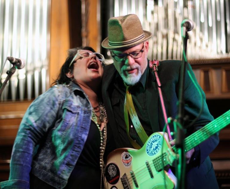 Phil Madeira and Sarah Potenza at Americanafest 2016