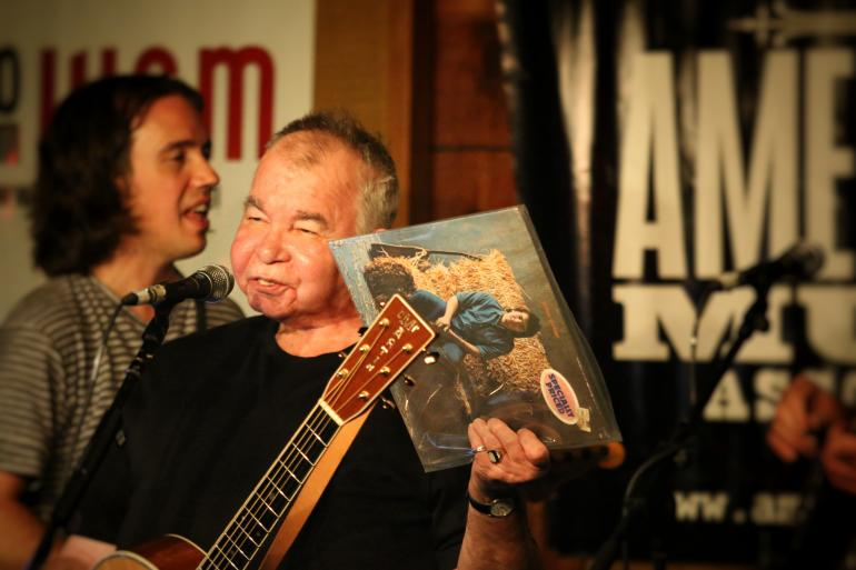 John Prine with Jason Wilber at AmericanaFest 2016