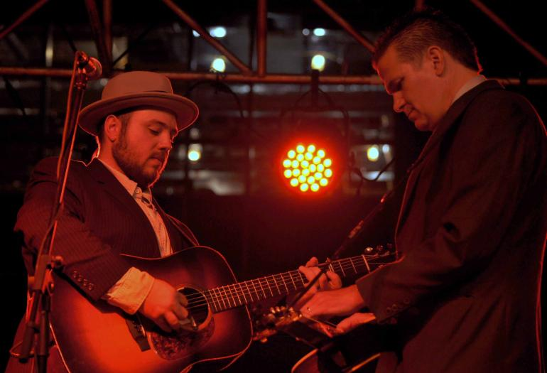 Rob Ickes & Trey Hensley at IBMA Wide Open Bluegrass 2016