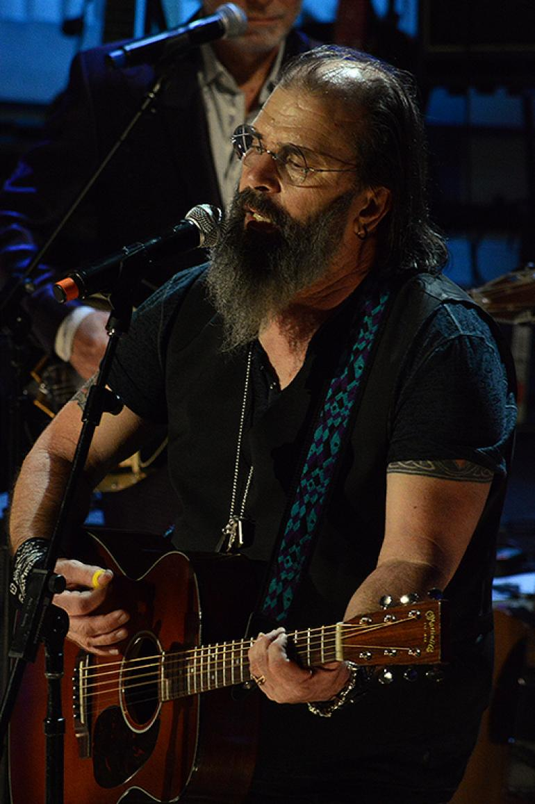 Steve Earle at the Americana Music Awards at the Ryman