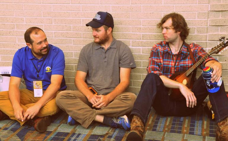 Jesse Wells, Arthur Hancock & Galen Green of The Wooks at IBMA Wide Open Bluegrass 2016
