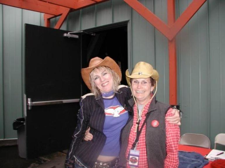 Lucinda Williams and Hilary Chiz, Farm Aid